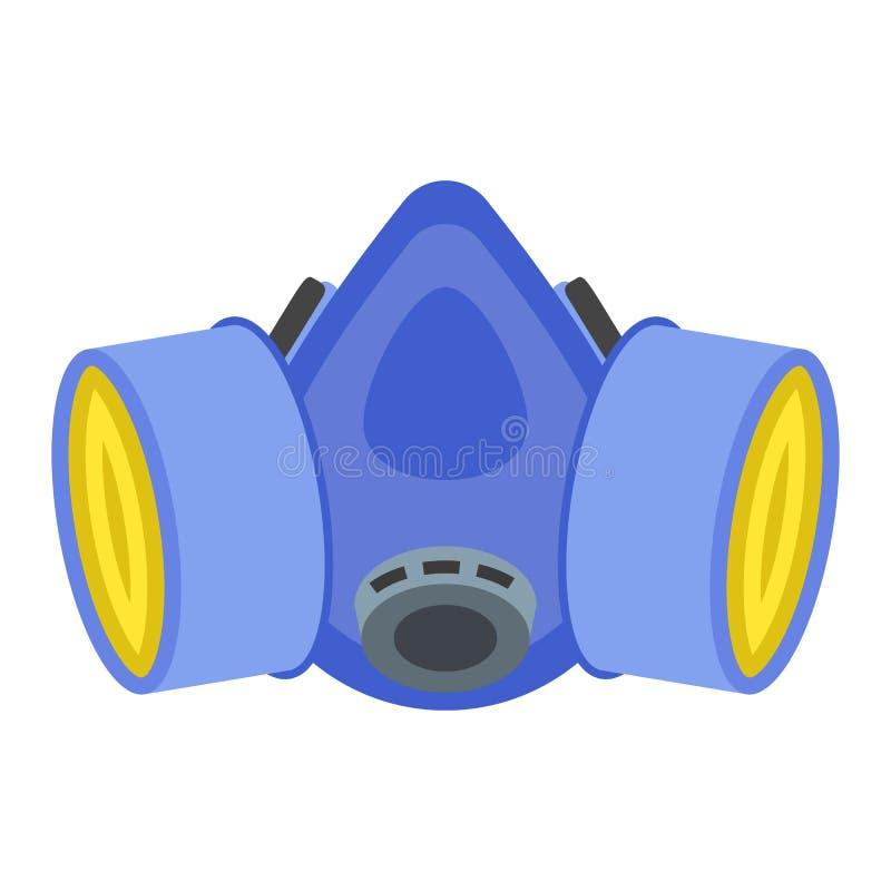 防毒面具象,平的样式 向量例证