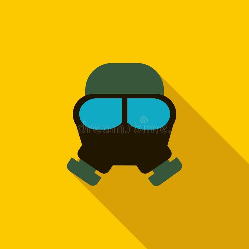 防毒面具象,平的样式 库存例证