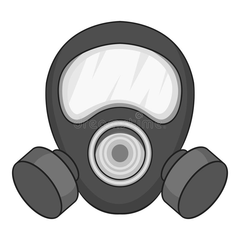 防毒面具象黑白照片 向量例证