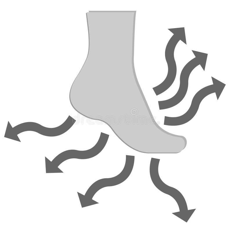 防水适于吸入的袜子 皇族释放例证