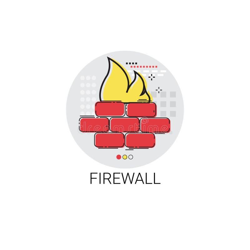防火墙数据保护保密性互联网信息网络安全象 向量例证