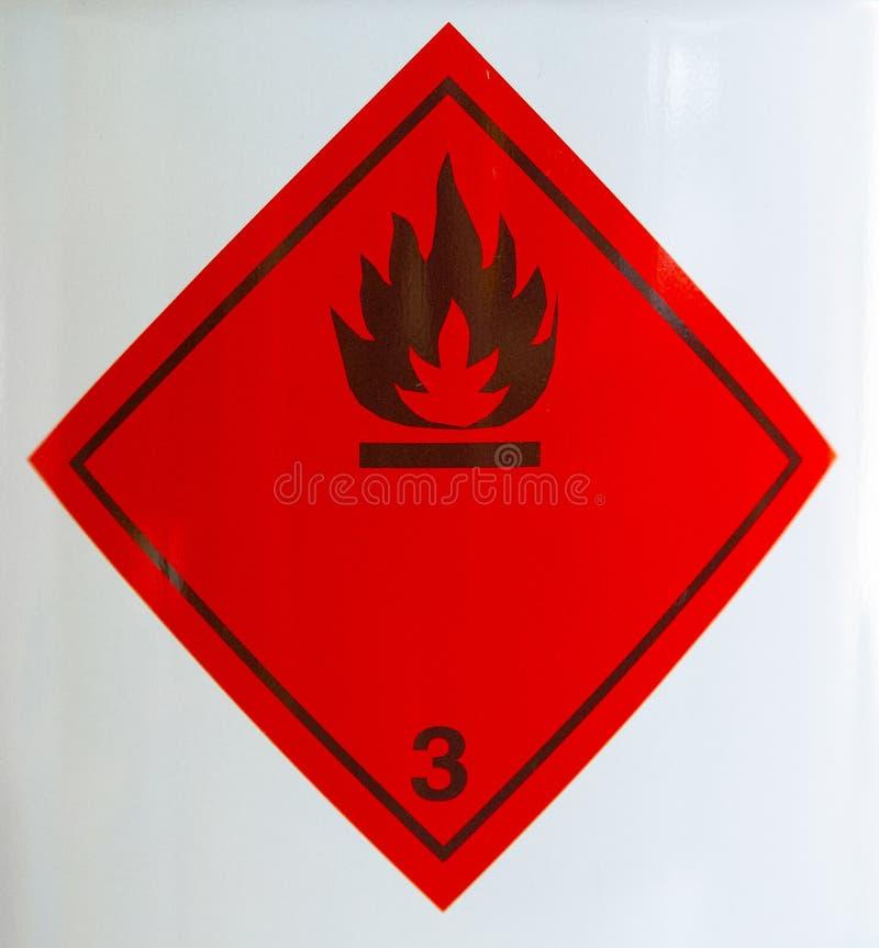 防火安全的各自的标志,在油和煤气开发领域 免版税库存照片