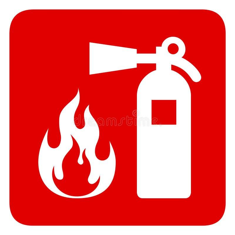 防火安全 红色长方形标志 向量例证