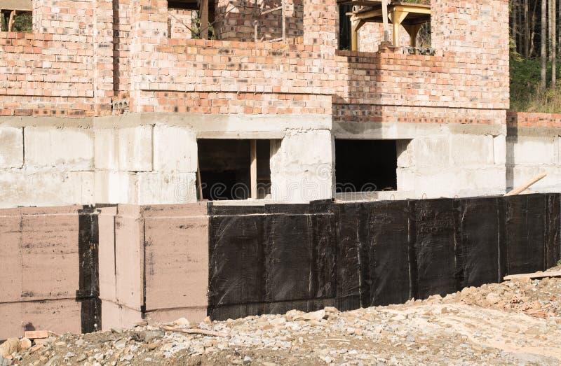 防水的地下室和基础 库存照片
