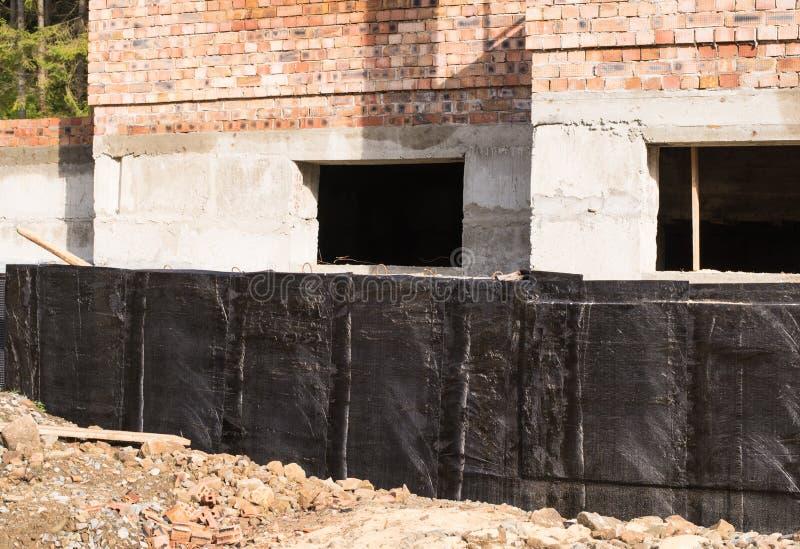 防水的地下室和基础 免版税库存图片