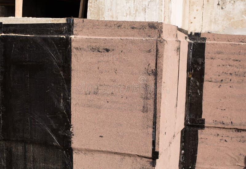 防水的地下室和基础 免版税库存照片