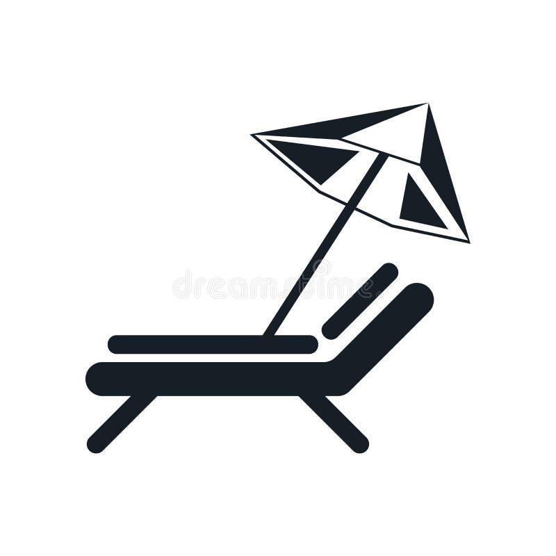 阳伞象在白色背景和标志隔绝的传染媒介标志,阳伞商标概念 皇族释放例证