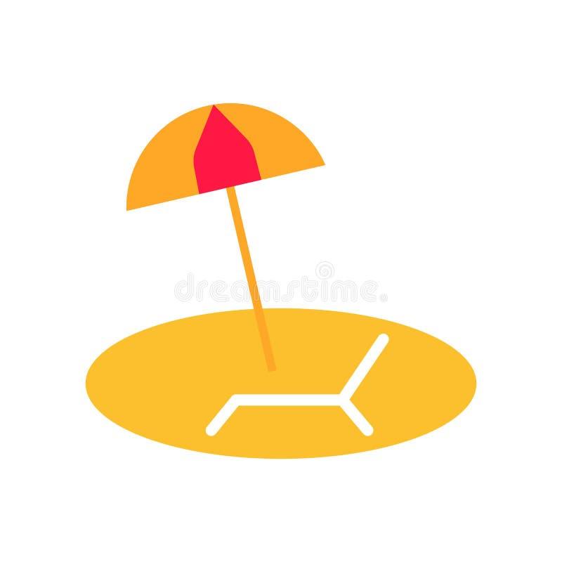 阳伞象在白色背景和标志隔绝的传染媒介标志,阳伞商标概念 向量例证