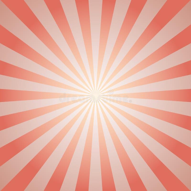 阳光减速火箭的退色的背景 苍白红色和米黄色彩生成背景 皇族释放例证