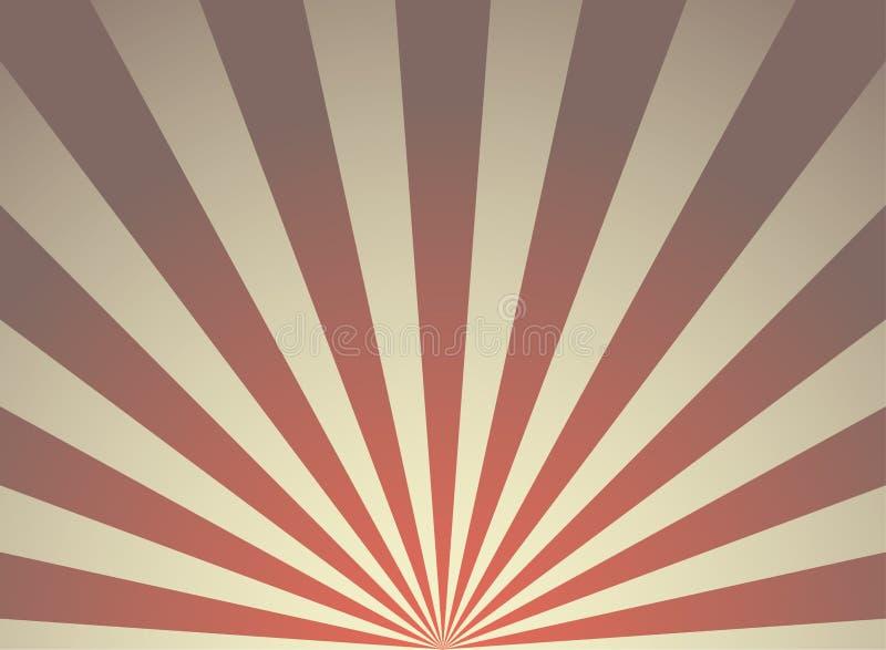 阳光减速火箭的难看的东西水平的背景 红色和米黄色彩生成背景 也corel凹道例证向量 太阳射线光芒背景 皇族释放例证