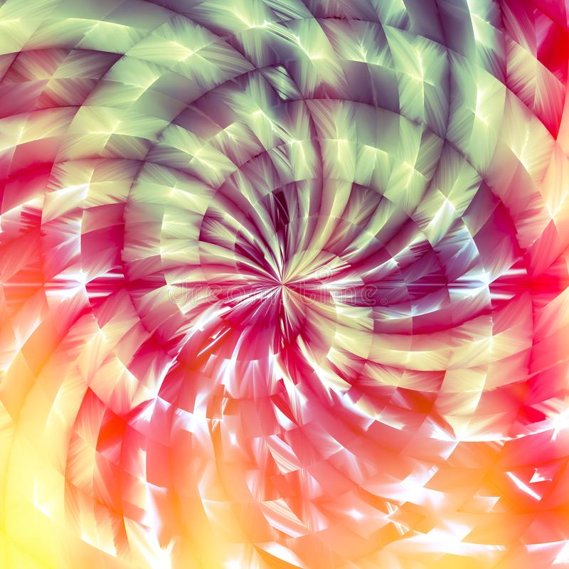 阳光和彩虹轮转焰火分数维摘要 向量例证