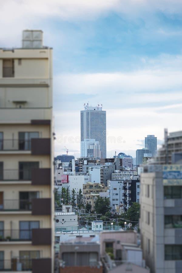 阳光大厦看法在从Komagome驻地的池袋 库存图片