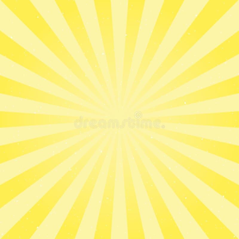 阳光抽象背景 粉末黄色色彩生成背景 向量例证