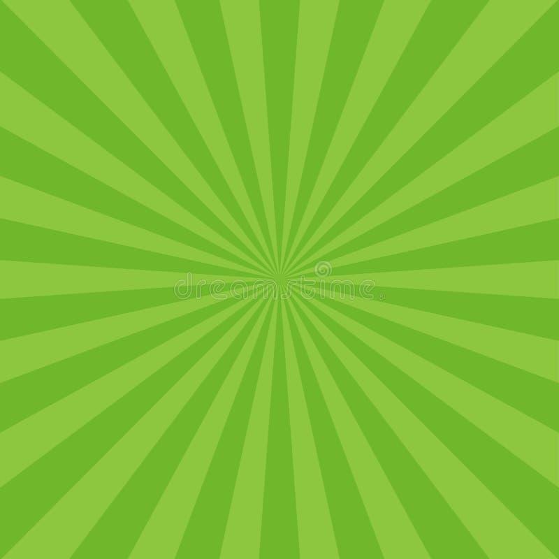 阳光抽象背景 绿色爆炸背景 库存例证