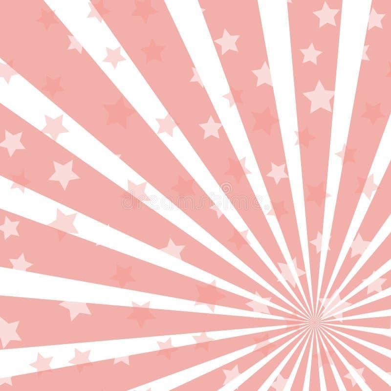 阳光水平的背景 与发光的星的背景 魔术,节日,马戏海报 向量例证