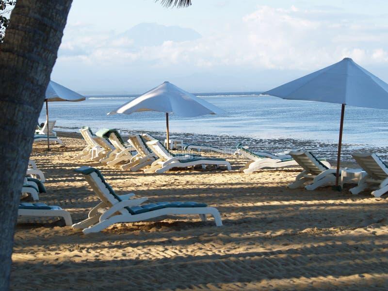 阳光海滩萨努尔巴厘岛 免版税库存图片