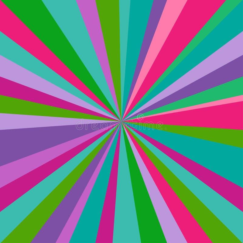 阳光背景 明亮的多色爆炸背景 抽象背景幻想例证向量 库存例证