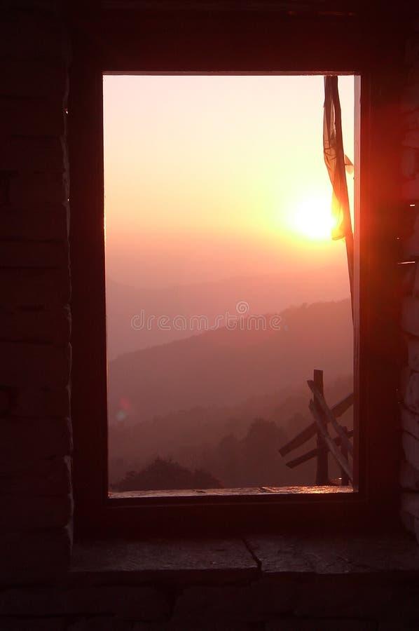 阳光视窗 库存图片