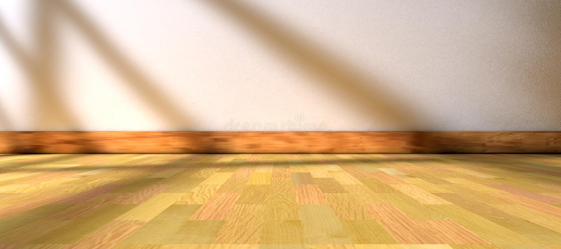 阳光通过窗口和内部室家庭背景 库存例证