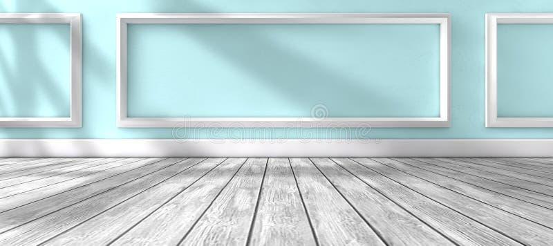 阳光通过窗口和内部室家庭背景 向量例证