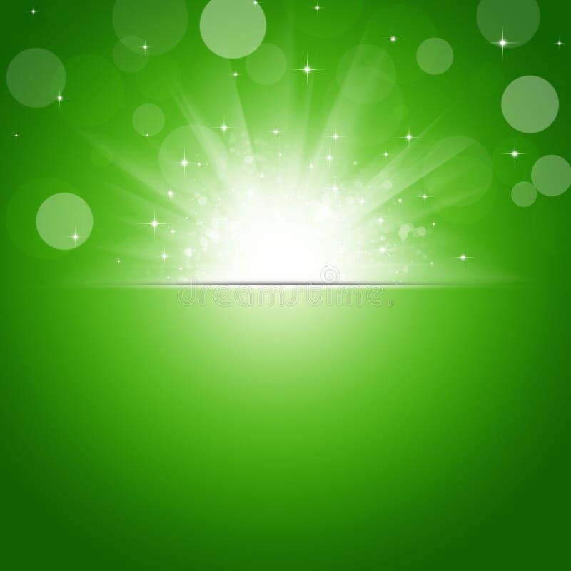 阳光绿色背景 向量例证