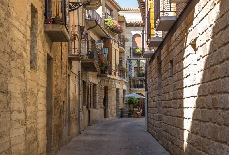 阳台在圣塞瓦斯蒂安,西班牙 库存照片