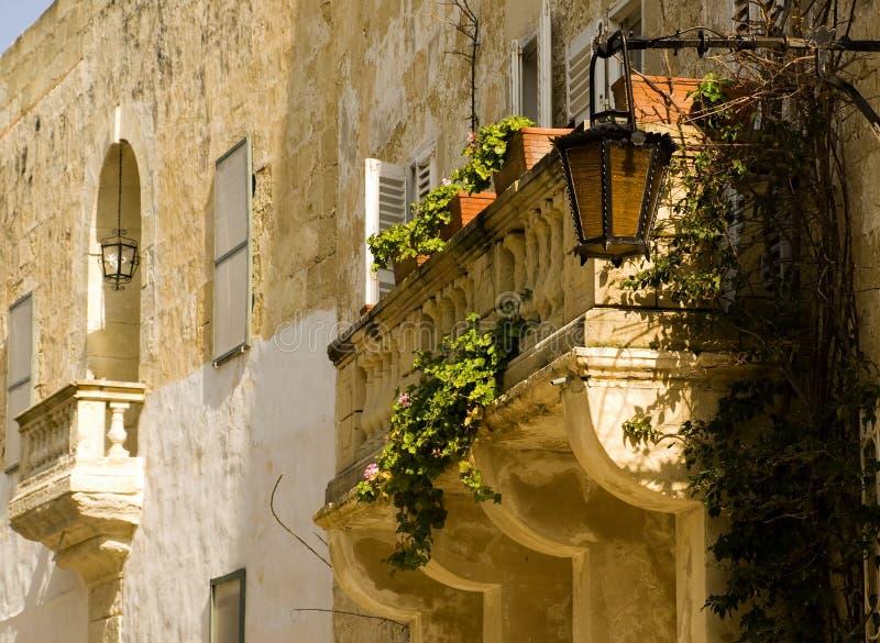 阳台巴洛克式中世纪 库存照片