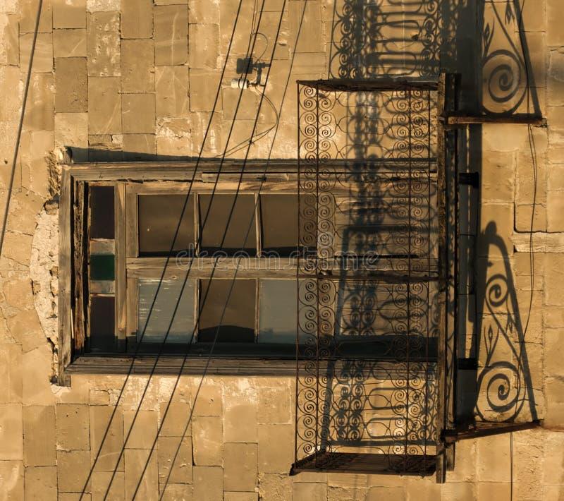阳台希腊 库存照片