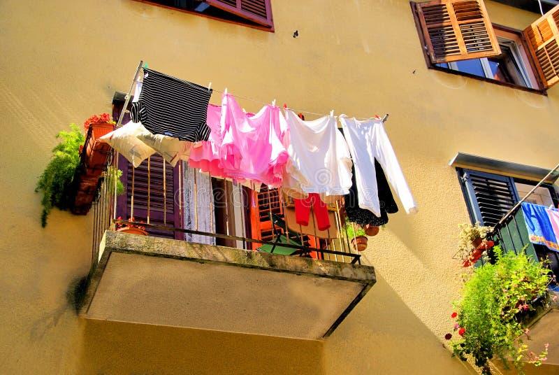 阳台洗衣店 库存照片
