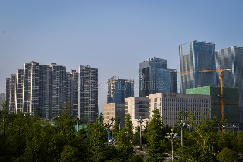 贵阳市商业中心2 免版税库存照片