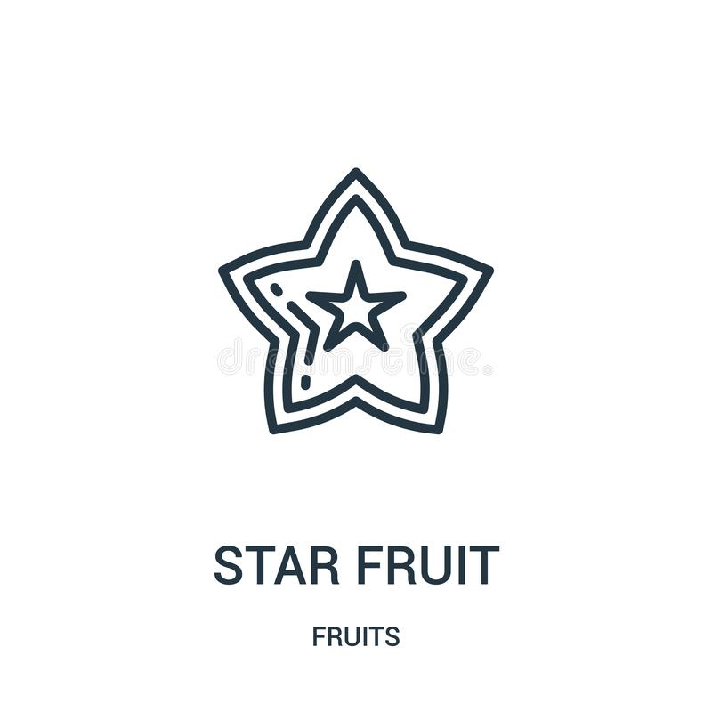阳桃从果子汇集的象传染媒介 稀薄的线阳桃概述象传染媒介例证 r 皇族释放例证