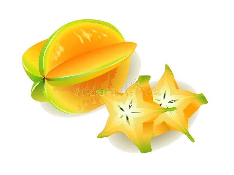 阳桃starfruit 皇族释放例证