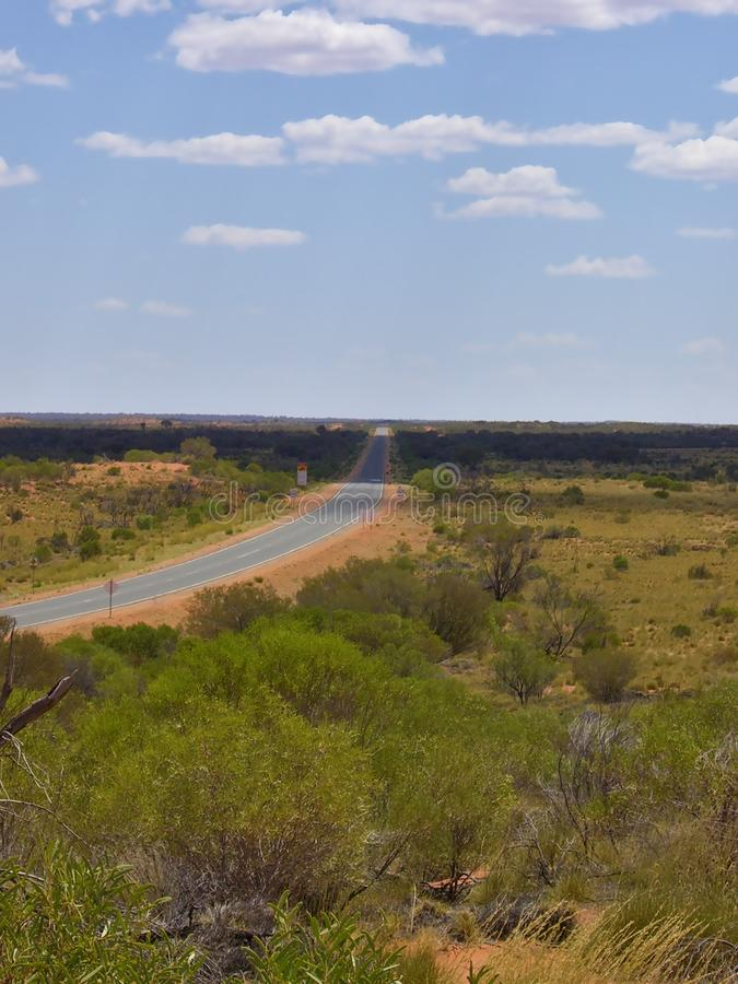 阴影和光在澳洲内地 免版税库存照片