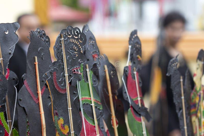 阴影木偶设置了泰国:Nang Talung是公众en的一个形式 库存图片