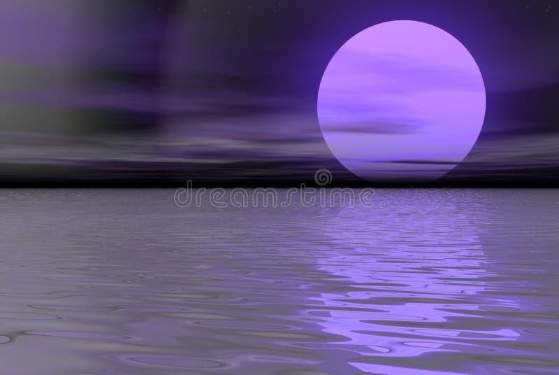 阴霾紫色 库存例证
