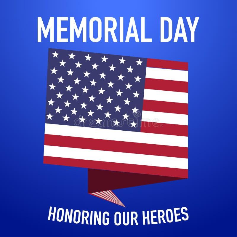 阵亡将士纪念日记住和纪念我们的英雄 库存例证