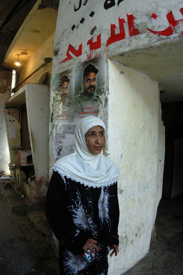 阵营巴勒斯坦人妇女 免版税库存照片