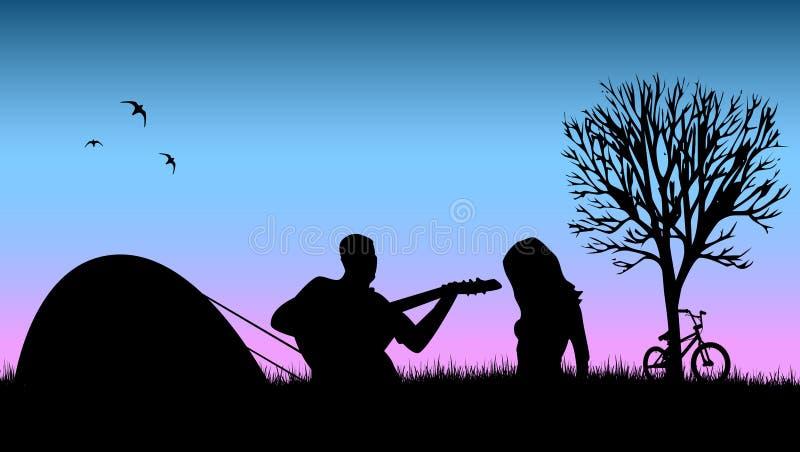阵营浪漫夏天向量 向量例证