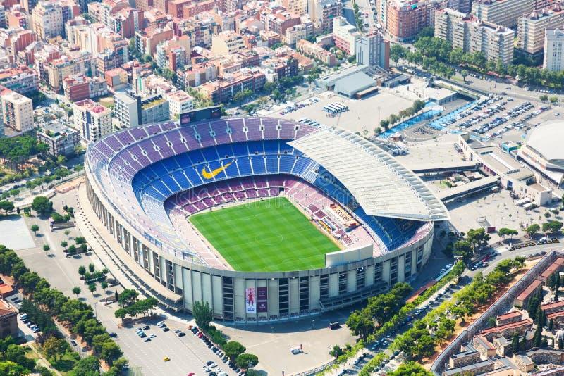 阵营Nou体育场鸟瞰图  巴塞罗那 免版税库存图片