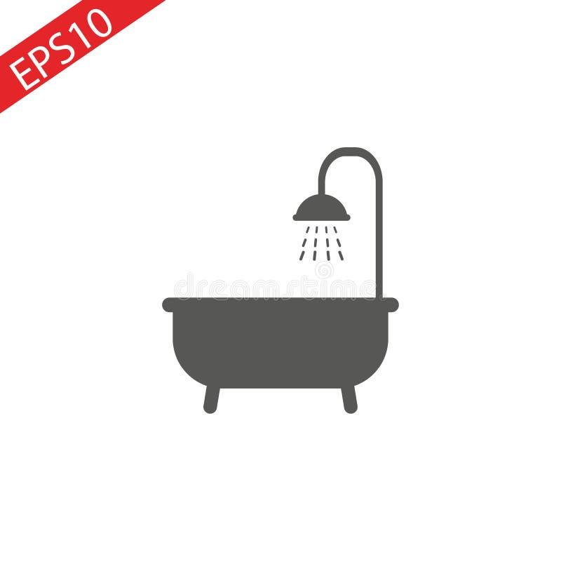 阵雨象 卫生间标志 r 库存例证