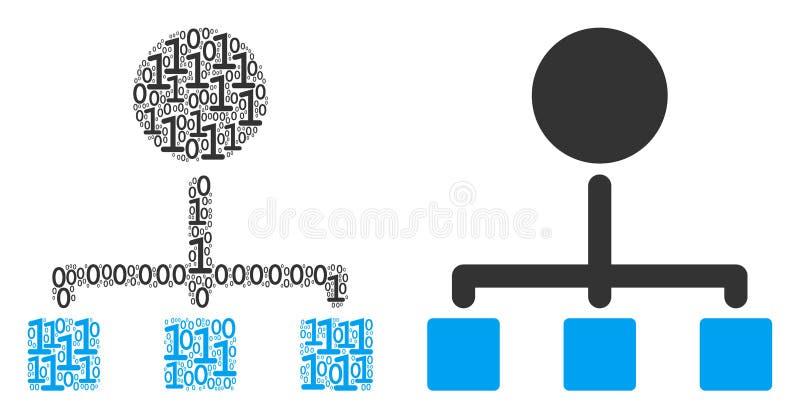 阶层结构的二进制数字 皇族释放例证