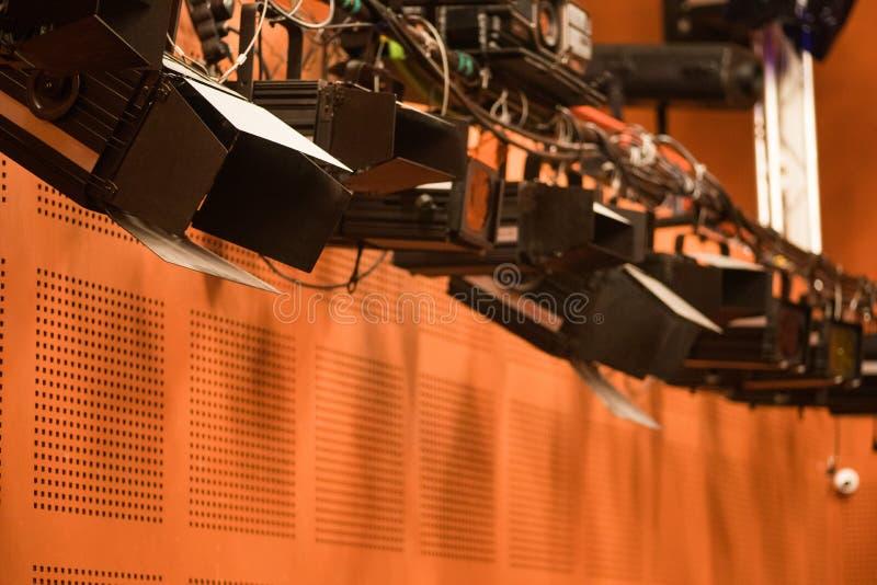 阶段反射器在剧院 库存照片