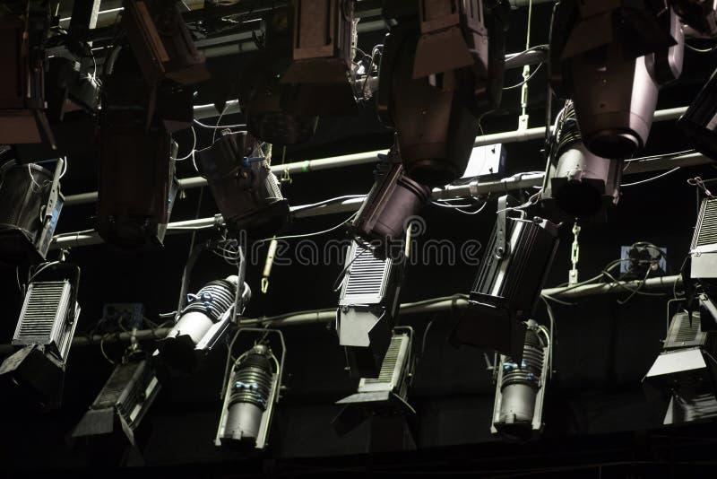 阶段反射器在剧院 免版税库存图片