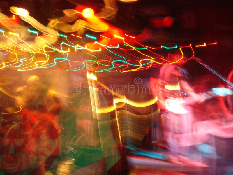 阶段完整色彩音乐的迷离 免版税库存图片