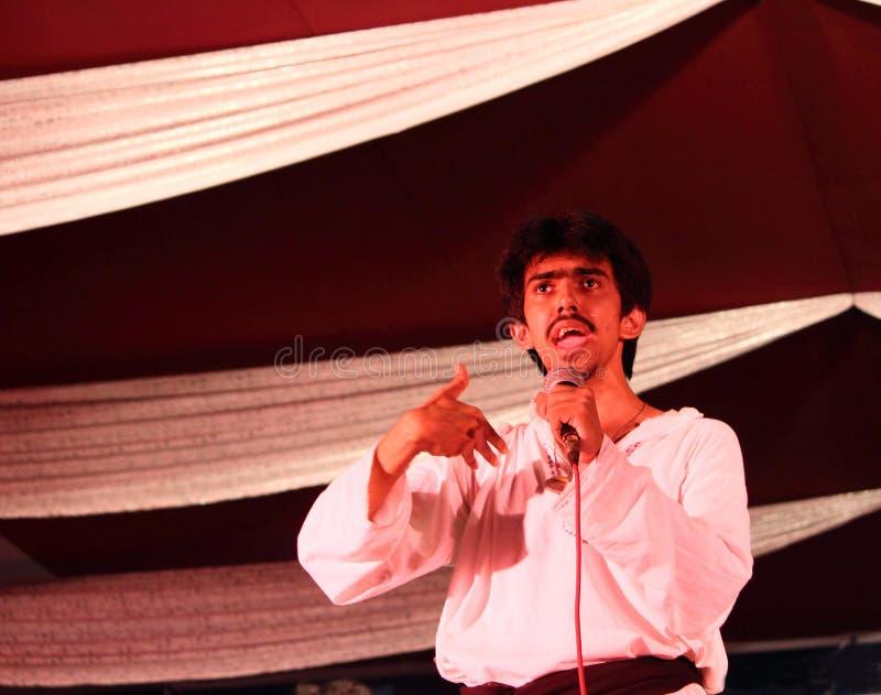 阶段戏剧,戏曲演员讲话 免版税图库摄影
