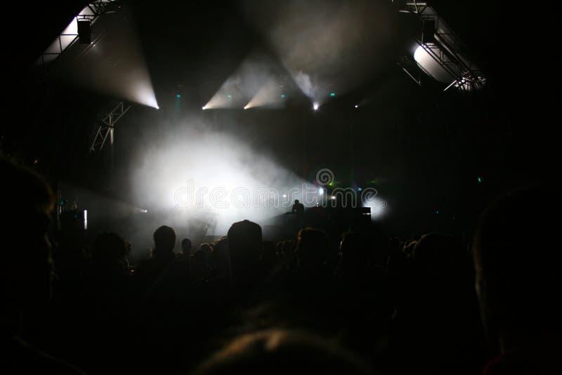 阶段点燃音乐会 免版税库存照片