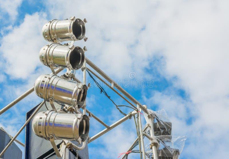 阶段照明设备和声测设备 免版税库存图片