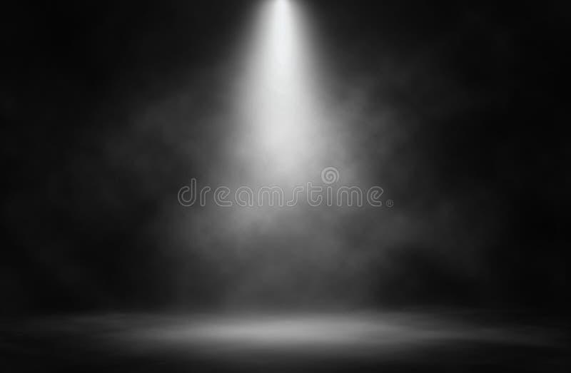 阶段白色烟聚光灯 免版税图库摄影