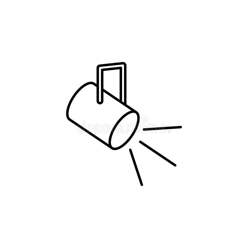 阶段的光 工作流动概念和网apps的照明设备象的元素 阶段的稀薄的线光可以为w使用 皇族释放例证