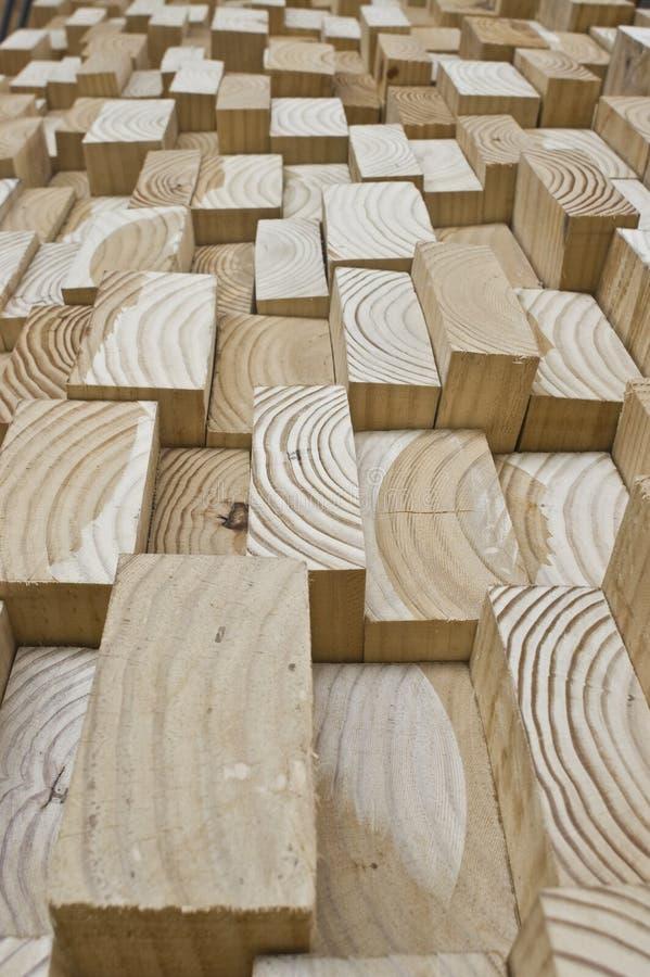 阻拦木头 库存照片